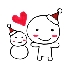 クリスマスとお正月の季節スタンプ