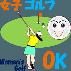 女子 ゴルフ MV