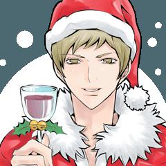 クリスマスと年末年始に!男の子スタンプ