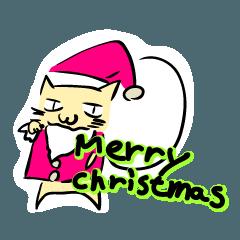 クリスマスふてネコ