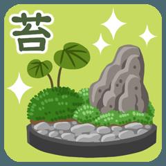 苔がいっぱい
