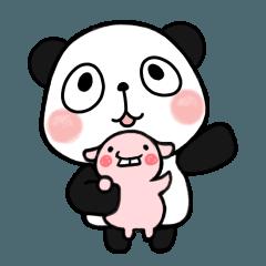 [LINEスタンプ] パンダ&デッパ (1)