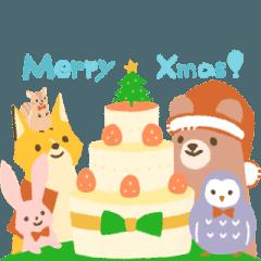 動物達のクリスマスと年明け