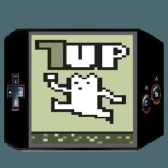 レトロゲーム風スタンプ ネコっぽい