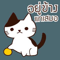 猫 ずっと味方でいてやるよ タイ語