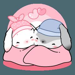 Winter Love Couple Rabbit