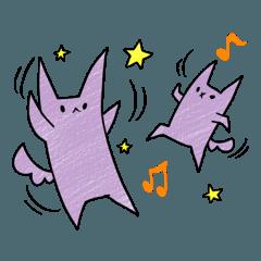 紫色の猫「兄」と「弟」