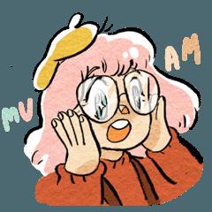 Little girl named mu-am