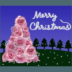 ▶動く!バラの花(クリスマスと年末年始)