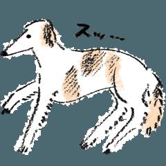ゆるふわな犬たちスタンプ