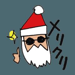 クリスマスのスタンプ。