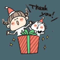 ビス子とネコさんのクリスマス&お正月