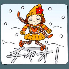 ひま子ちゃん125 雪にメッセージ編2